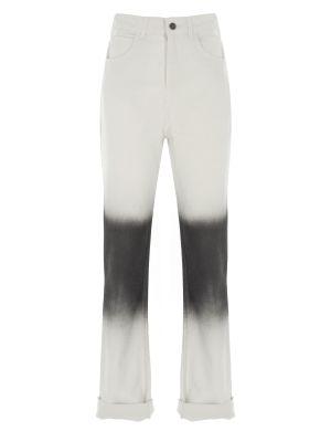 Yüksek Bel Siyah Bloklu Denim Pantolon