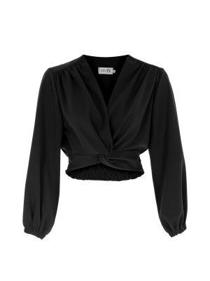 Düğüm Detaylı Siyah Bluz