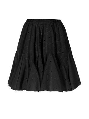 Volanlı Fisto Siyah Mini Etek