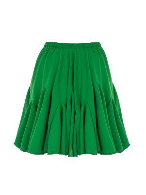 Volanlı Yeşil Mini Etek